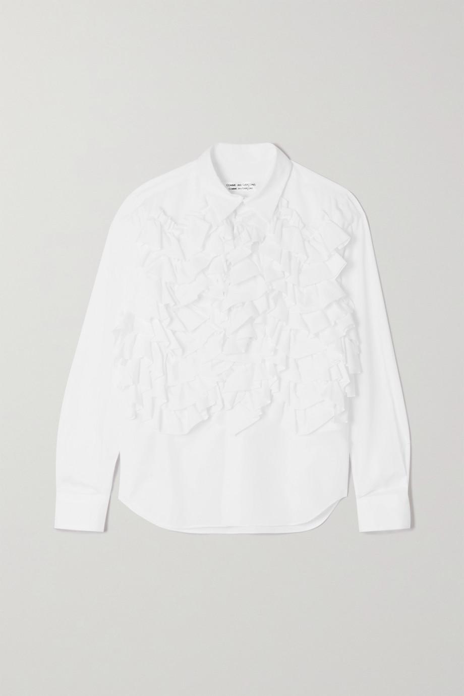 Comme des Garçons Comme des Garçons Ruffled cotton-poplin shirt