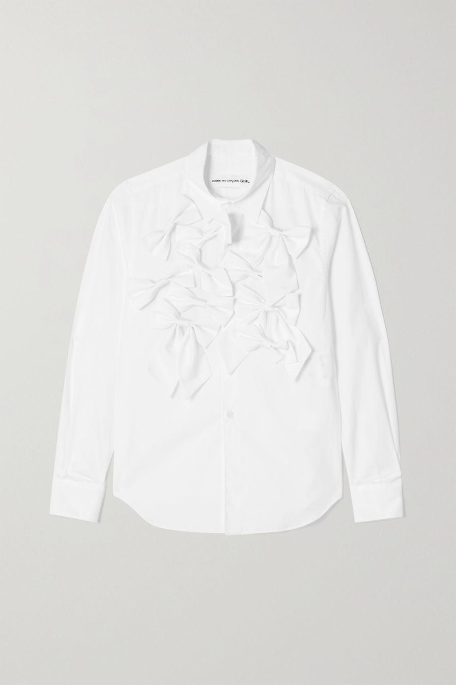Comme des Garçons GIRL Hemd aus Baumwollpopeline mit Schleifen
