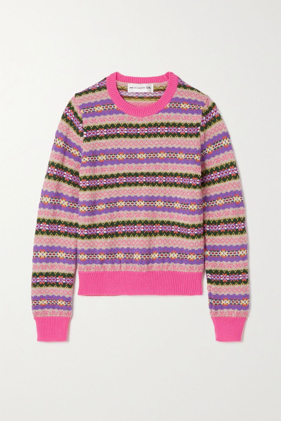 Comme des Garçons GIRL Pullover aus einer Wollmischung mit Fair-Isle-Muster