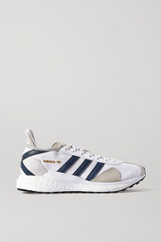 adidas Originals + Human Made Tokio Solar leather-trimmed suede and mesh sneakers