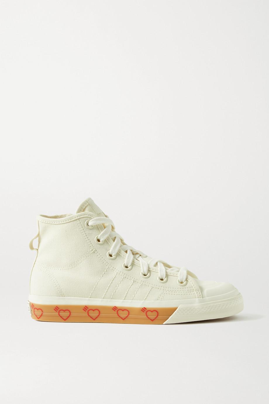 adidas Originals Baskets montantes en toile à finitions en caoutchouc Nizza Hi x Human Made