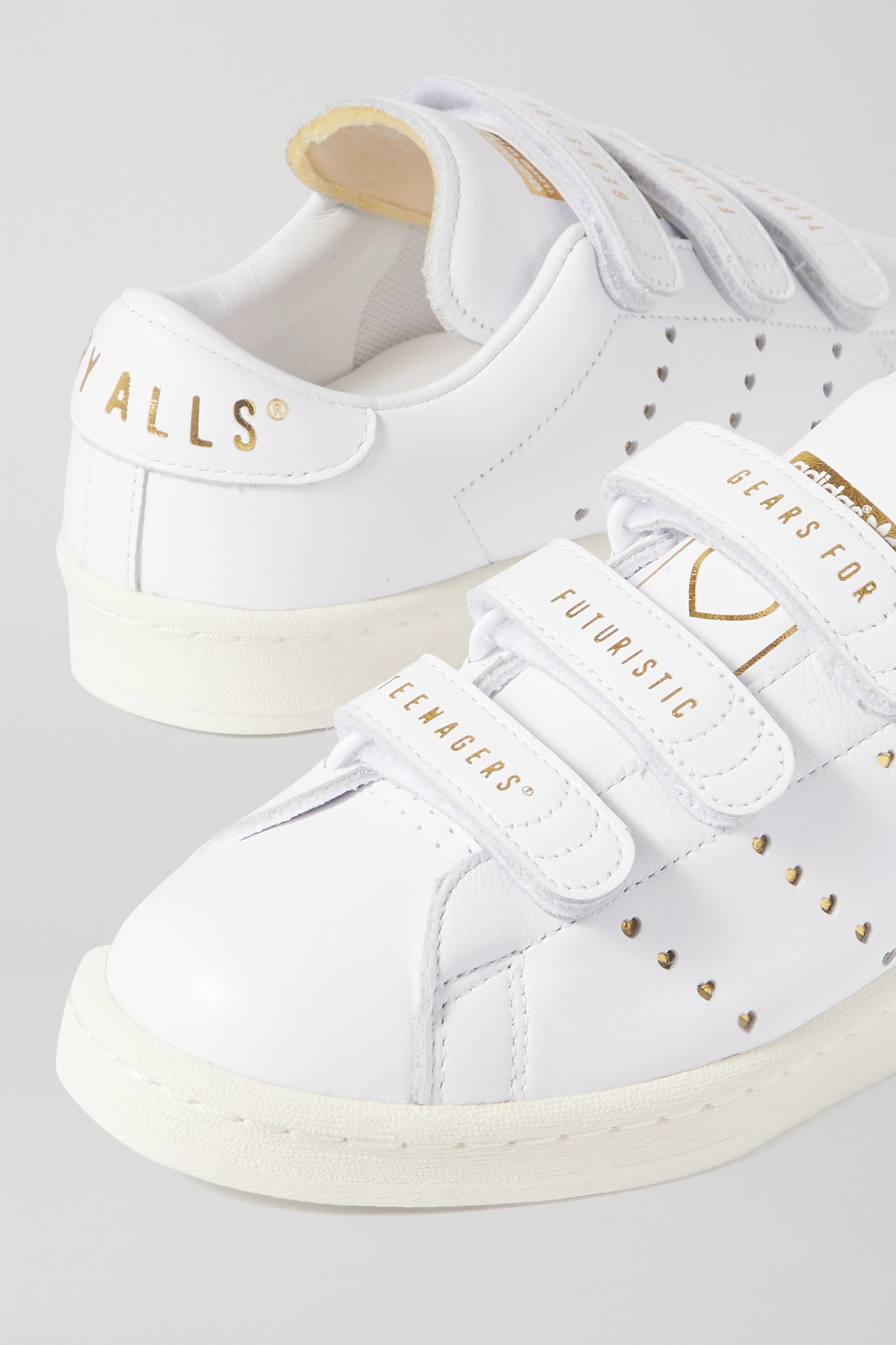 adidas Originals + Human Made printed leather sneakers