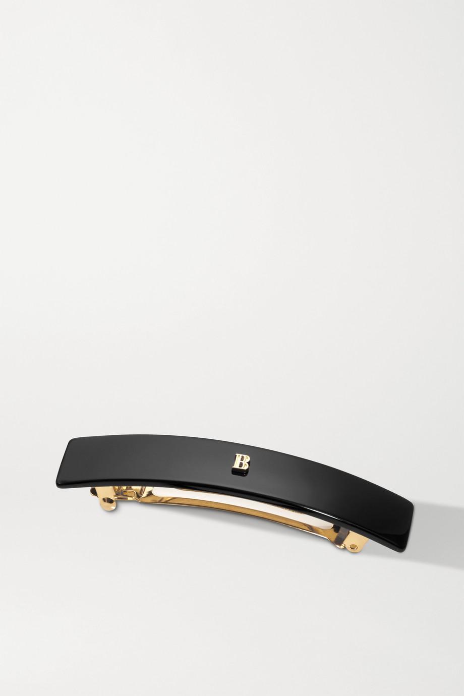 Balmain Paris Hair Couture Medium acetate hair clip - Black