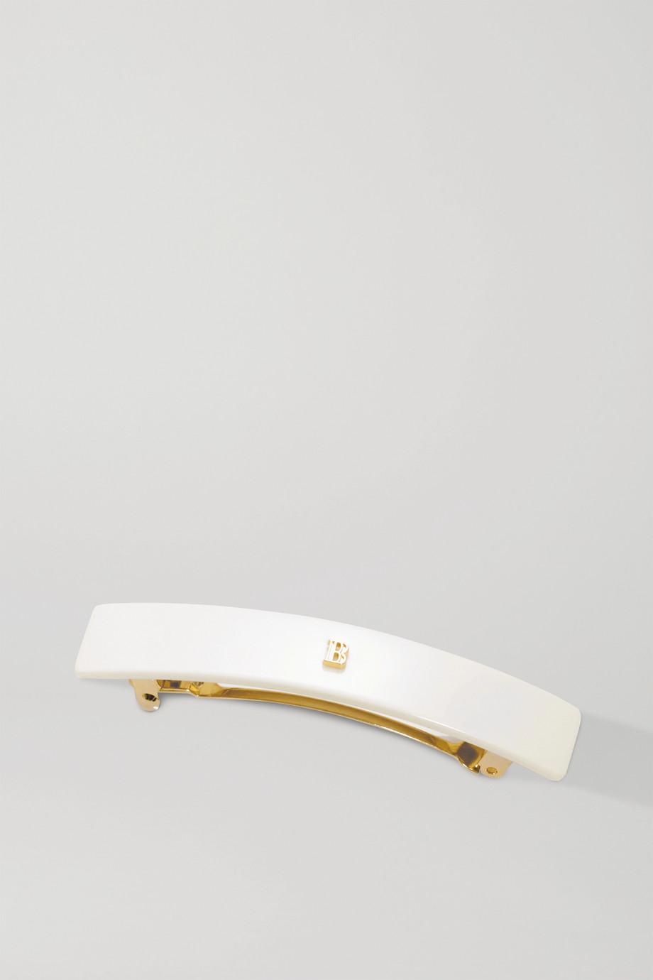 Balmain Paris Hair Couture Medium acetate hair clip - White