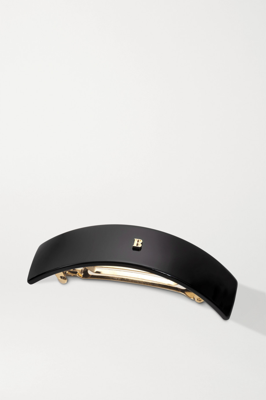 Balmain Paris Hair Couture Large acetate hair clip - Black