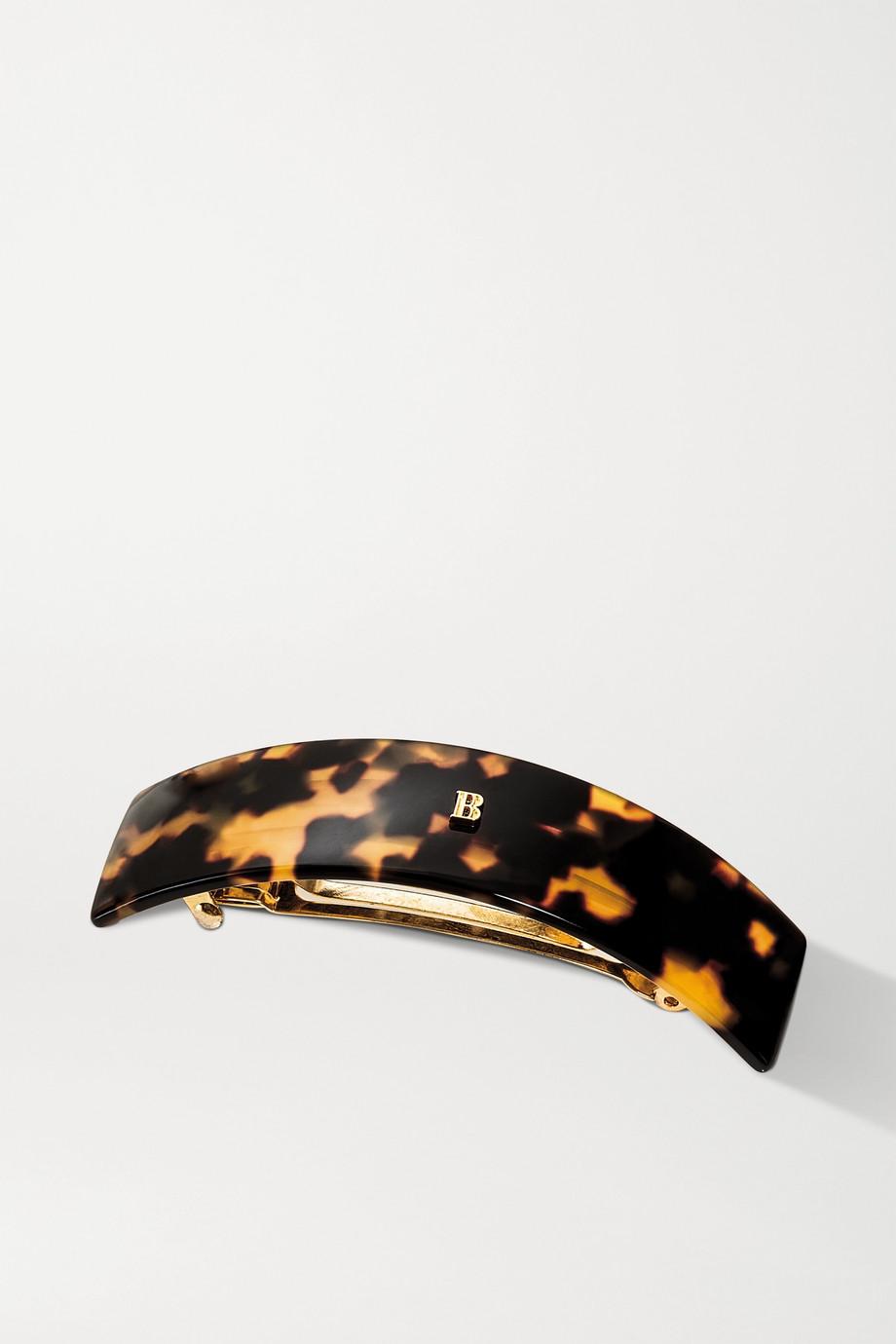 Balmain Paris Hair Couture Large acetate hair clip - Tortoiseshell