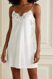 Cami NYC The Illy lace-trimmed silk-blend charmeuse chemise