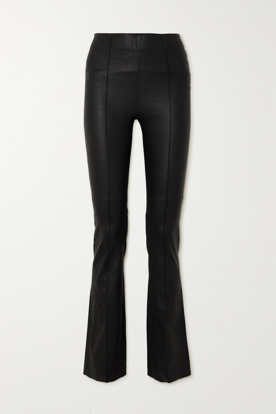 REMAIN Birger Christensen Floral leather flared pants