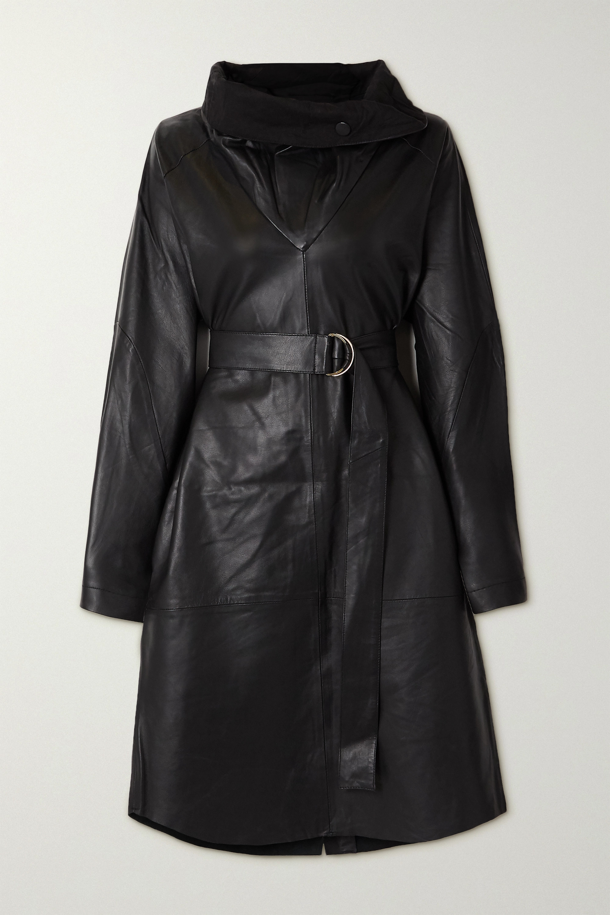 REMAIN Birger Christensen Sortie belted leather dress