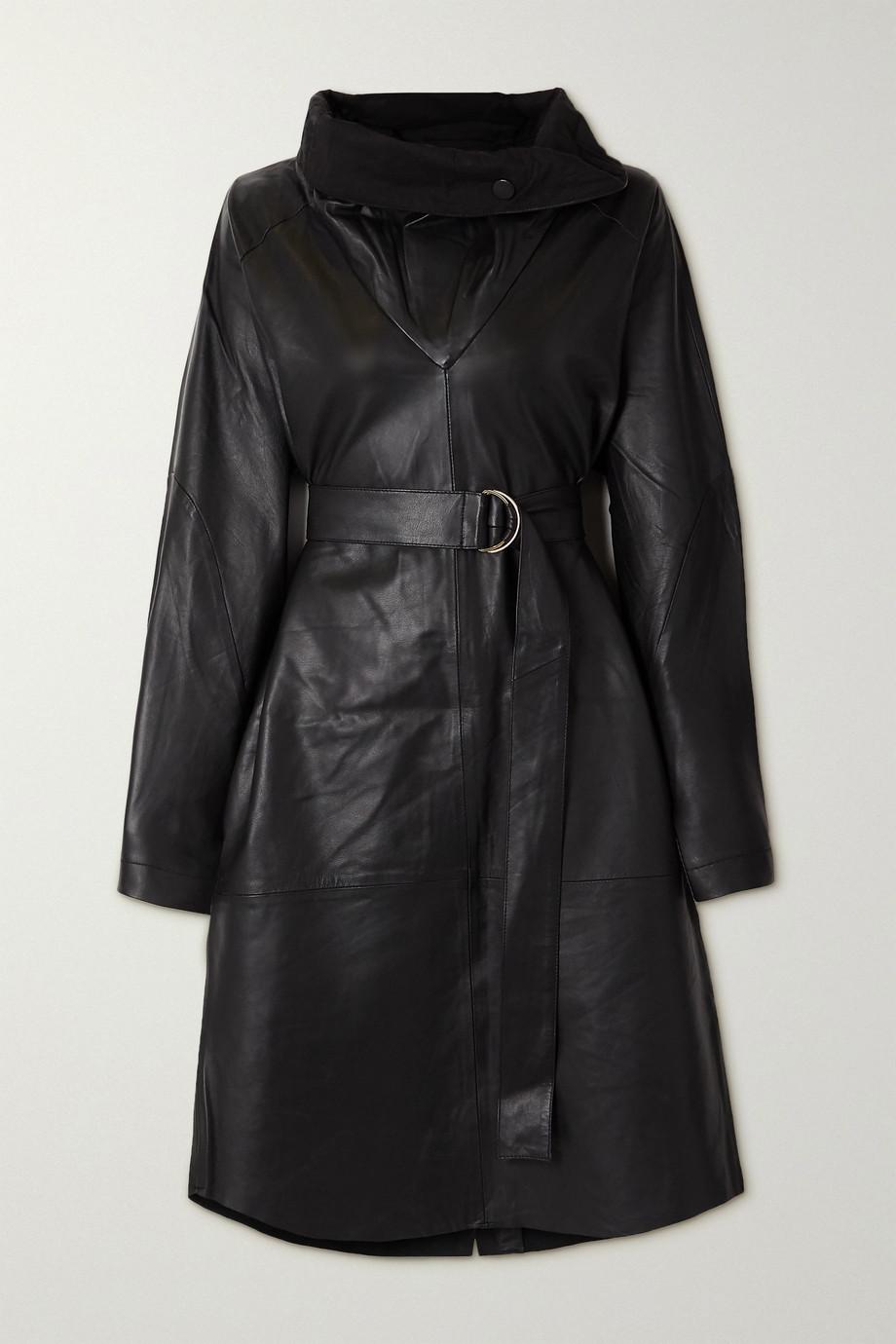REMAIN Birger Christensen Sortie belted leather dress