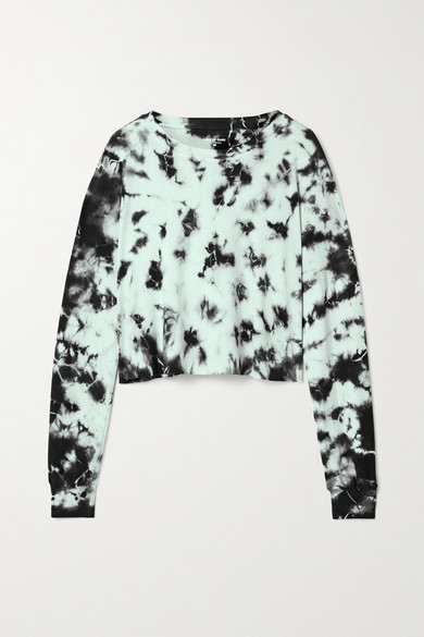 Year of Ours - Cropped Tie-dyed Cotton-jersey Top
