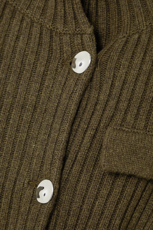 REMAIN Birger Christensen Franci Midikleid aus gerippter Wolle mit Bindegürtel
