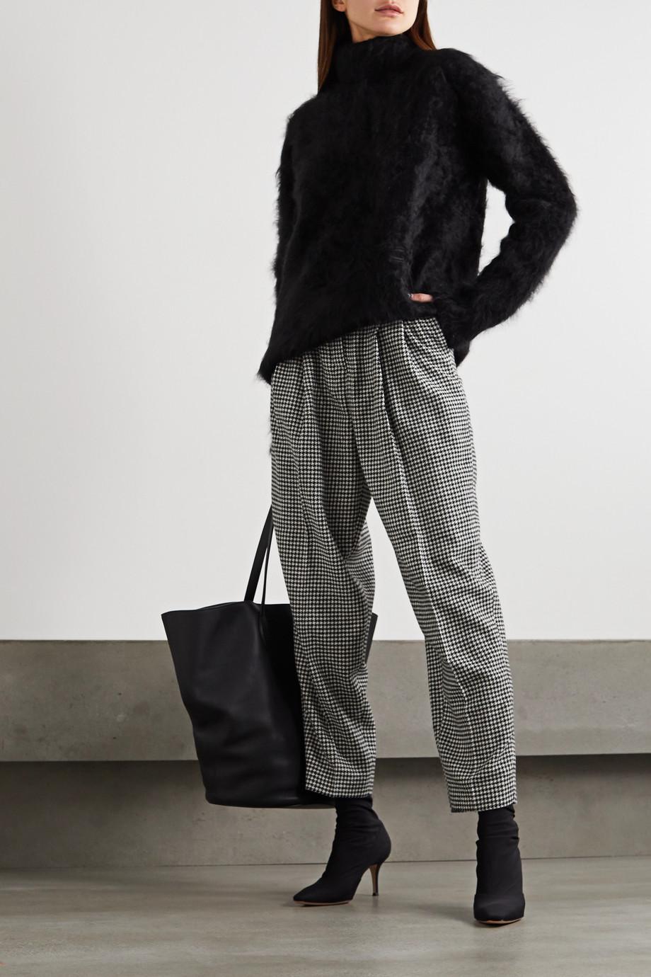 REMAIN Birger Christensen Pantalon fuselé en laine mélangée pied-de-poule à plis Marionette