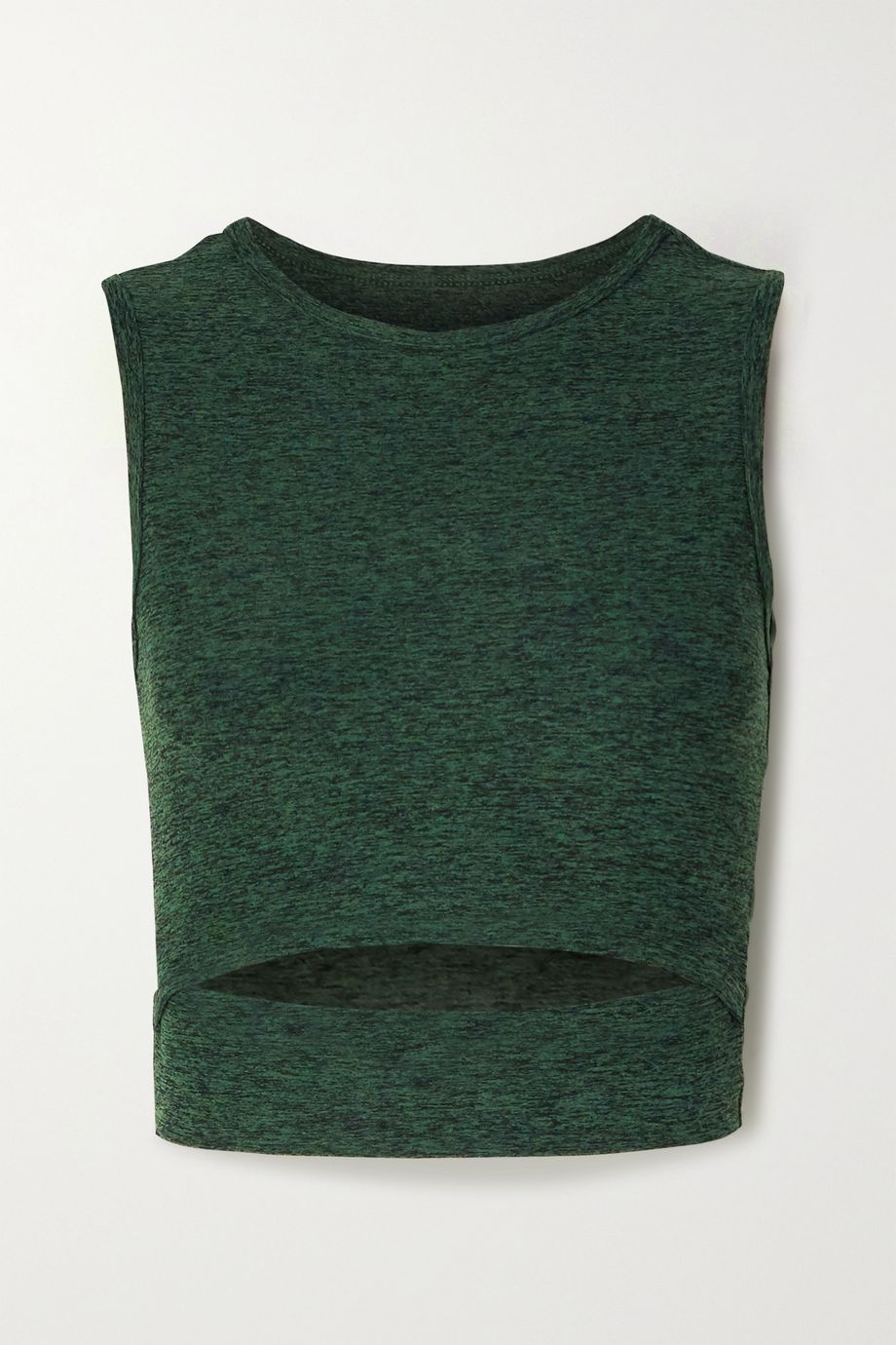 Year of Ours Nikki cropped cutout space-dyed stretch tank