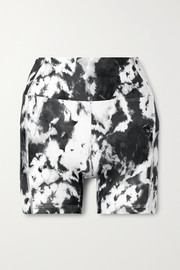 Year of Ours Tie-dyed stretch shorts