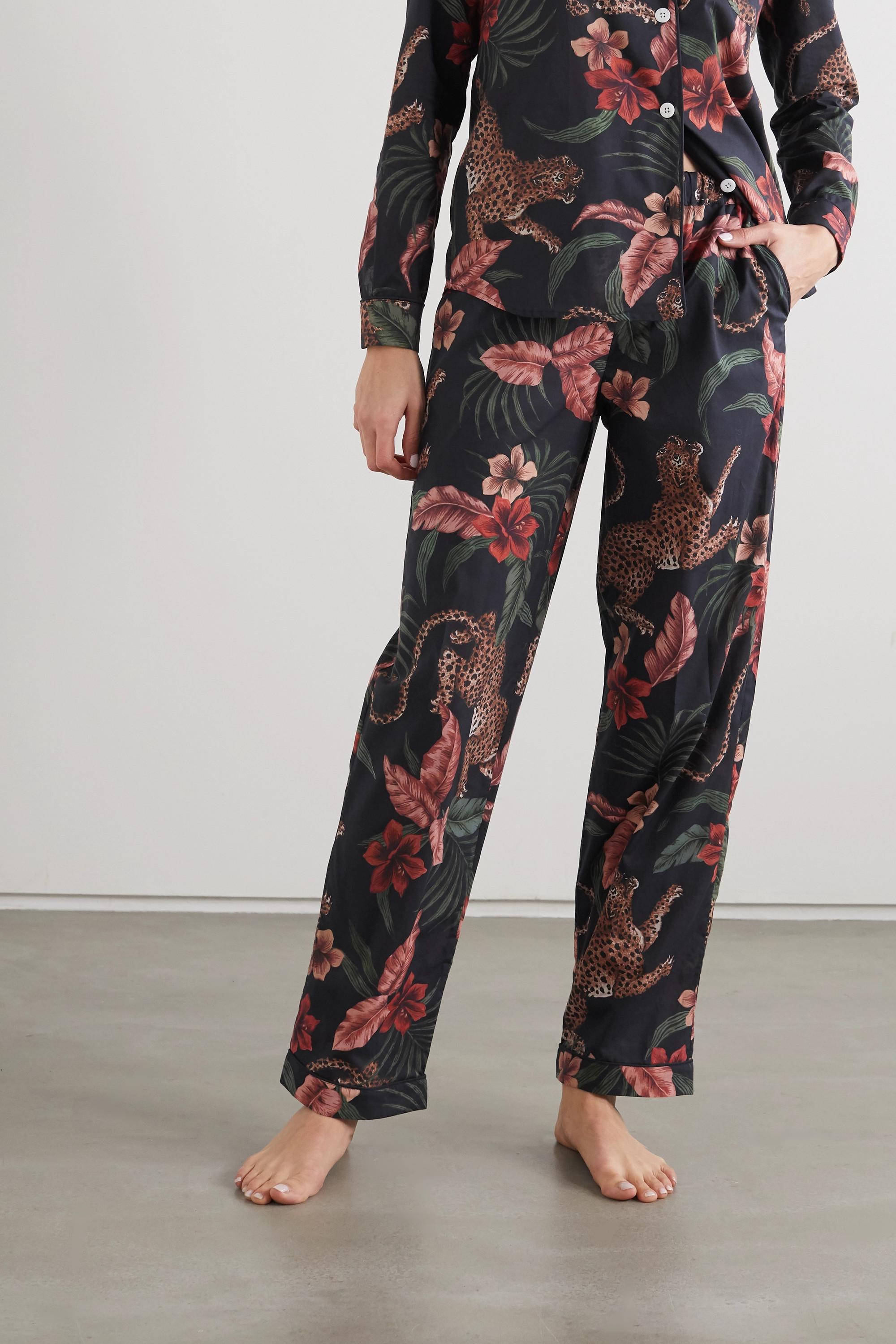 Desmond & Dempsey Printed organic cotton pajama set