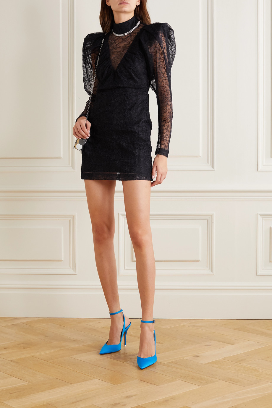 ROTATE Birger Christensen Ida lace mini dress