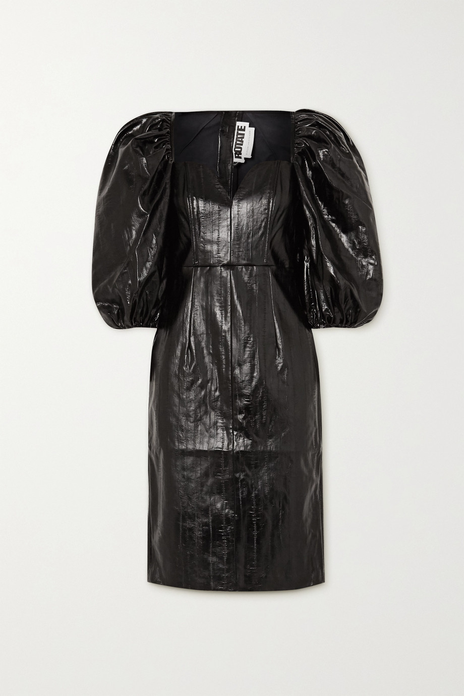 ROTATE Birger Christensen Robe en cuir synthétique verni Irina
