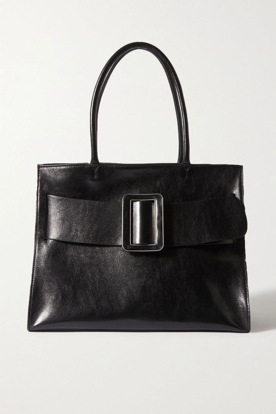 BOYY Bobby Soft large buckled polished-leather tote