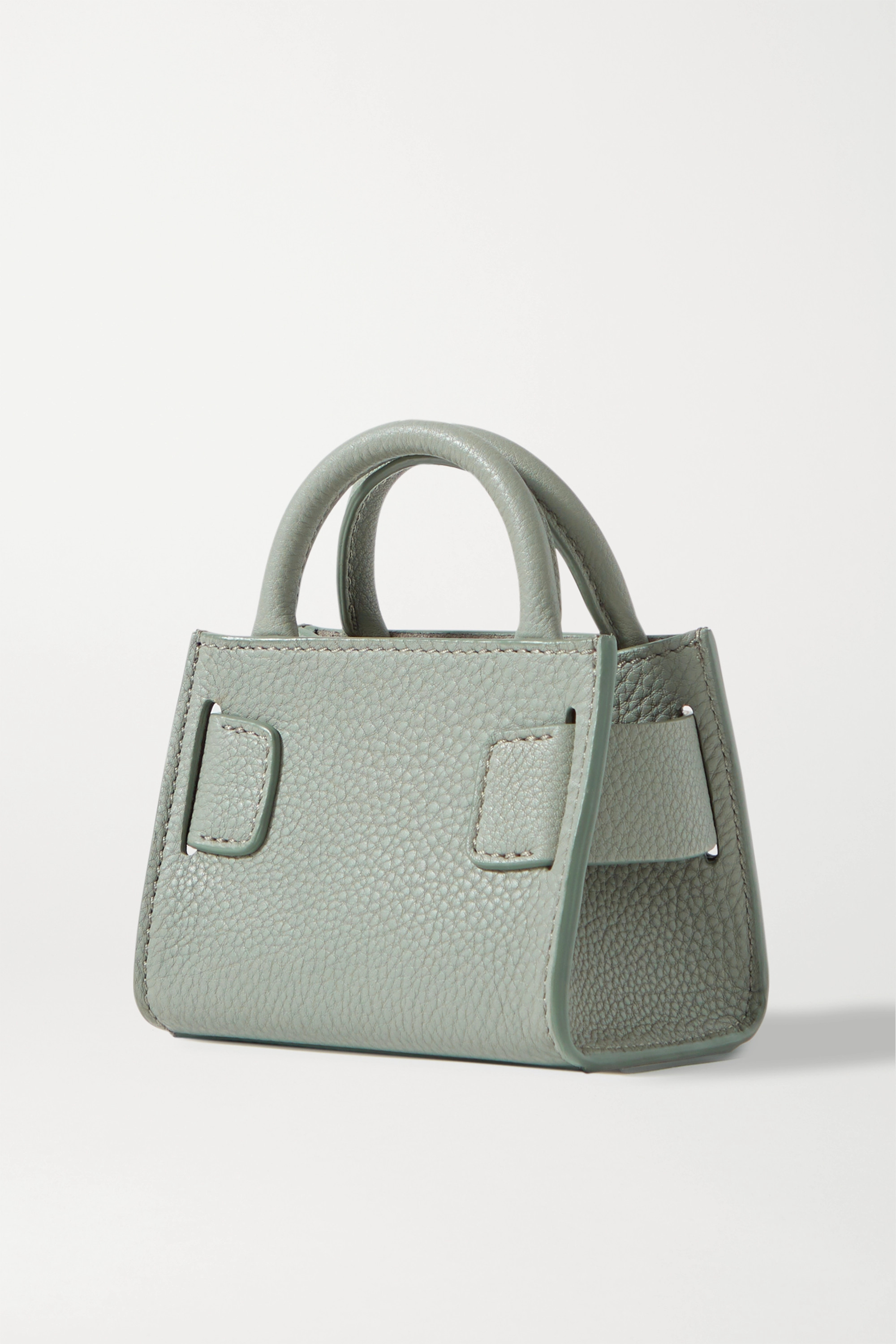 BOYY Bobby Surreal mini buckled textured-leather tote