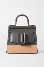 BOYY Karl Surreal mini buckled two-tone leather tote