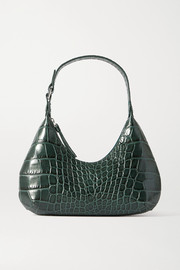 BY FAR Amber Baby croc-effect leather tote