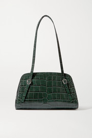 BY FAR Lora croc-effect leather shoulder bag