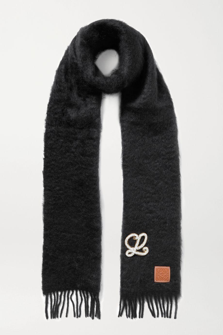 Loewe Embellished mohair-blend scarf