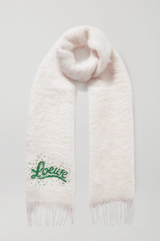 Loewe Bead-embellished mohair-blend scarf