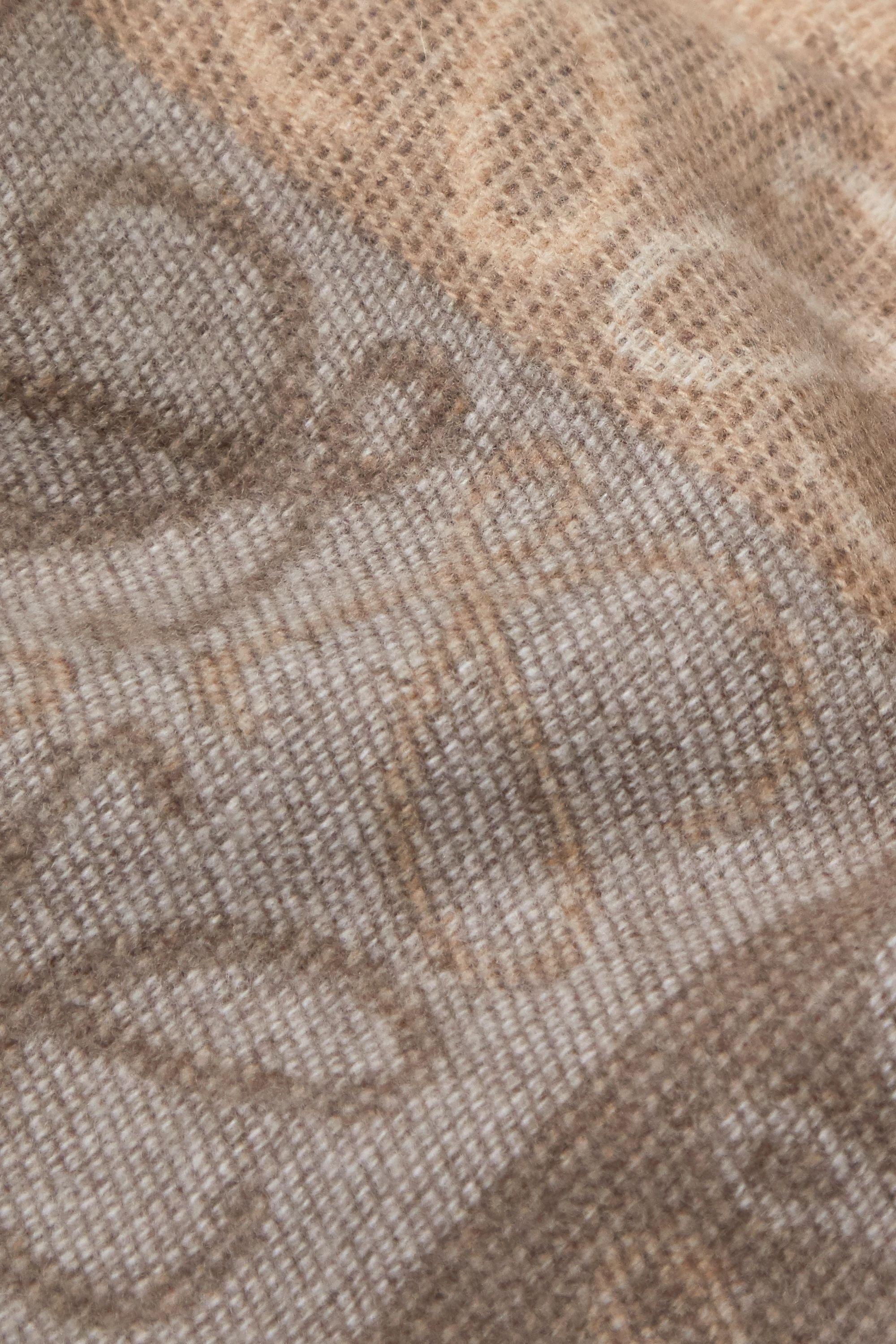 Loewe Écharpe en jacquard de laine et de cachemire mélangés à franges