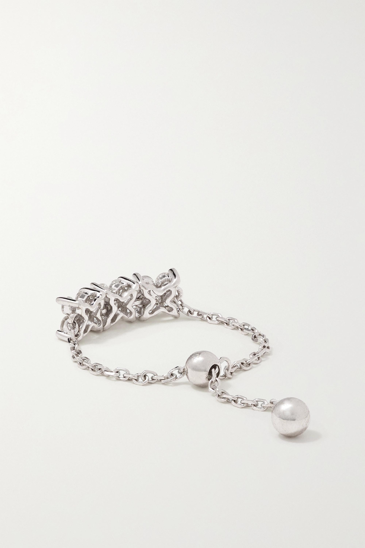 Anissa Kermiche Bague en or blanc 14 carats (585/1000) et diamants Brontë
