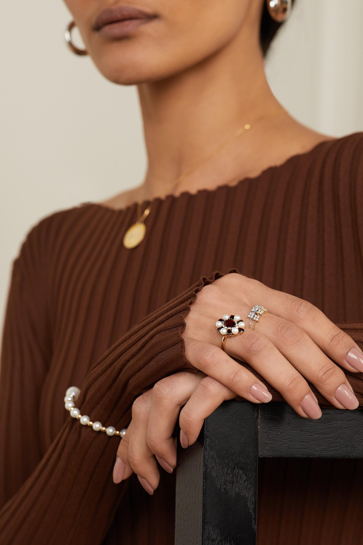 Anissa Kermiche Brontë Doré 14-karat gold diamond ring