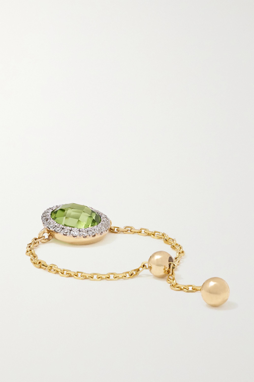 Anissa Kermiche Bague en or 14 carats (585/1000), péridot et diamants