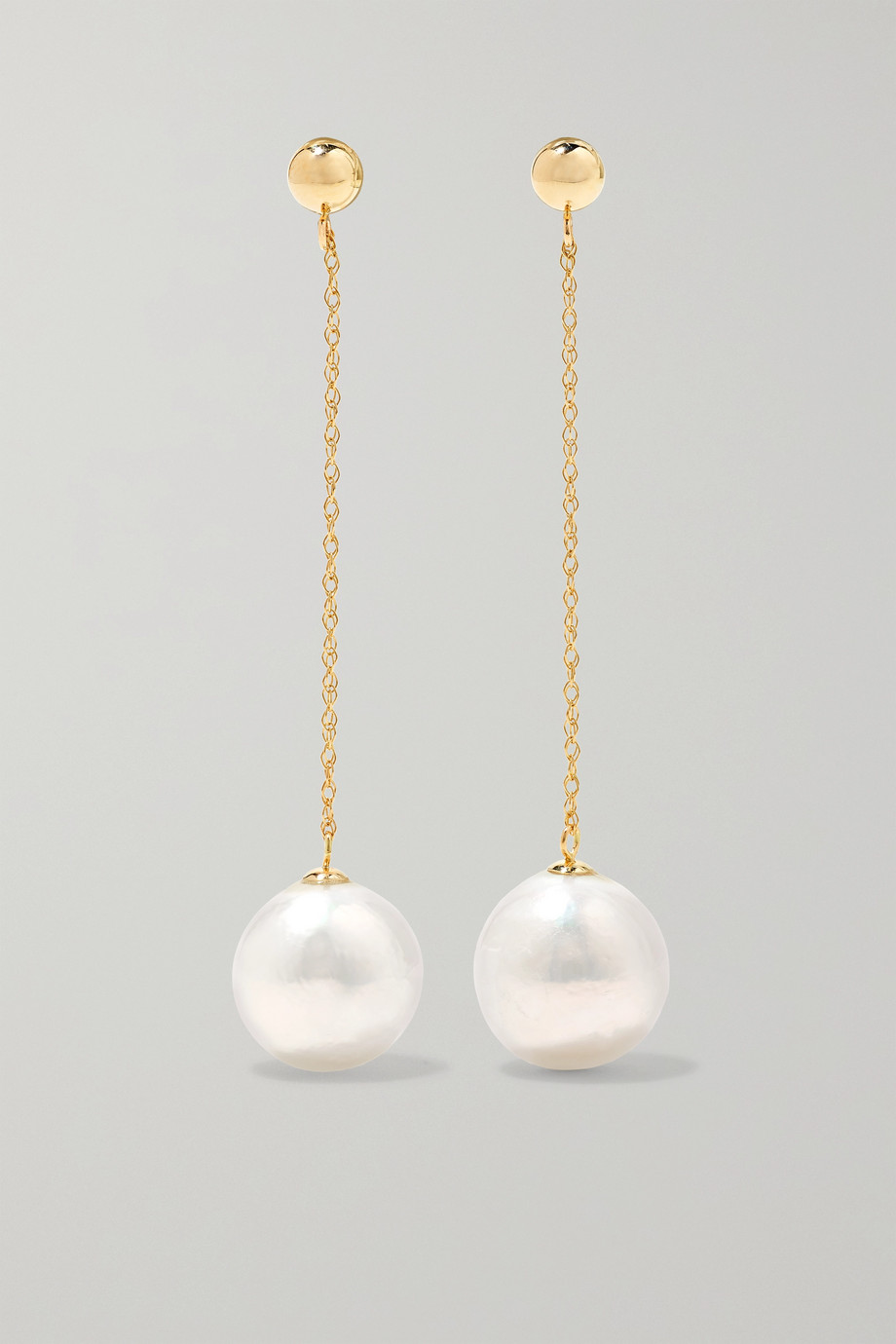 Anissa Kermiche Girl with a Pearl 14-karat gold pearl earrings