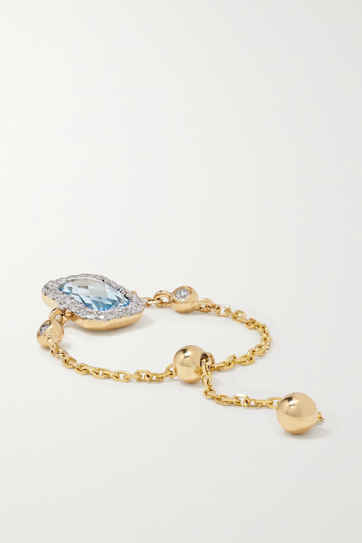 Anissa Kermiche Bague en or 14 carats (585/1000), topaze et diamants