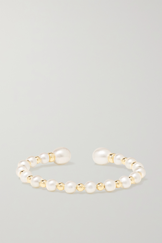 Anissa Kermiche Impromptu 14-karat gold pearl cuff
