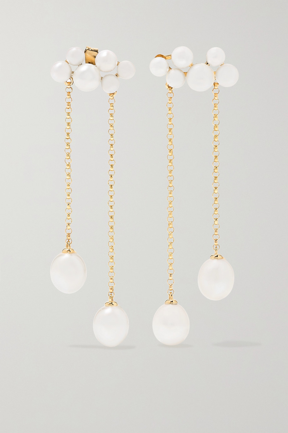 Anissa Kermiche Wuthering Heights 14-karat gold pearl earrings