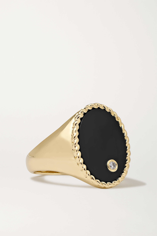 Yvonne Léon - 9-karat gold, onyx and diamond ring