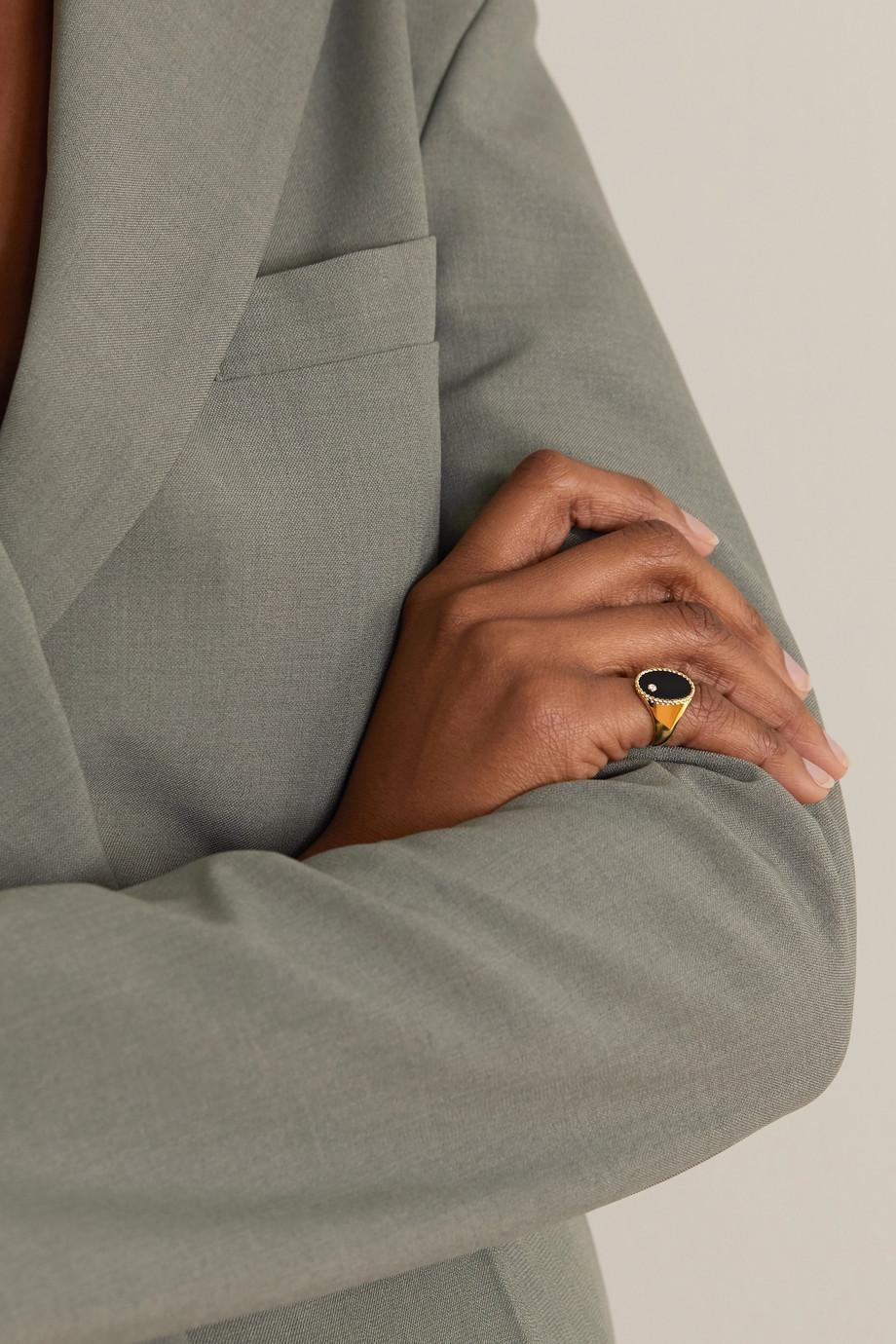 Yvonne Léon 9-karat gold, onyx and diamond ring