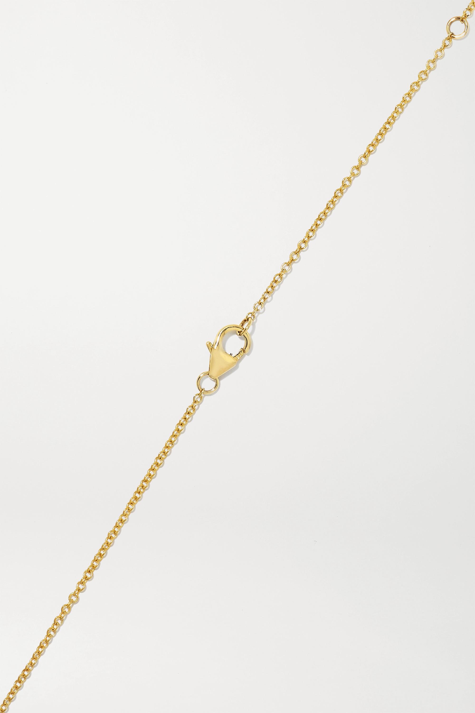 Yvonne Léon Kette aus 9 Karat Gold mit Tsavoriten und Diamanten