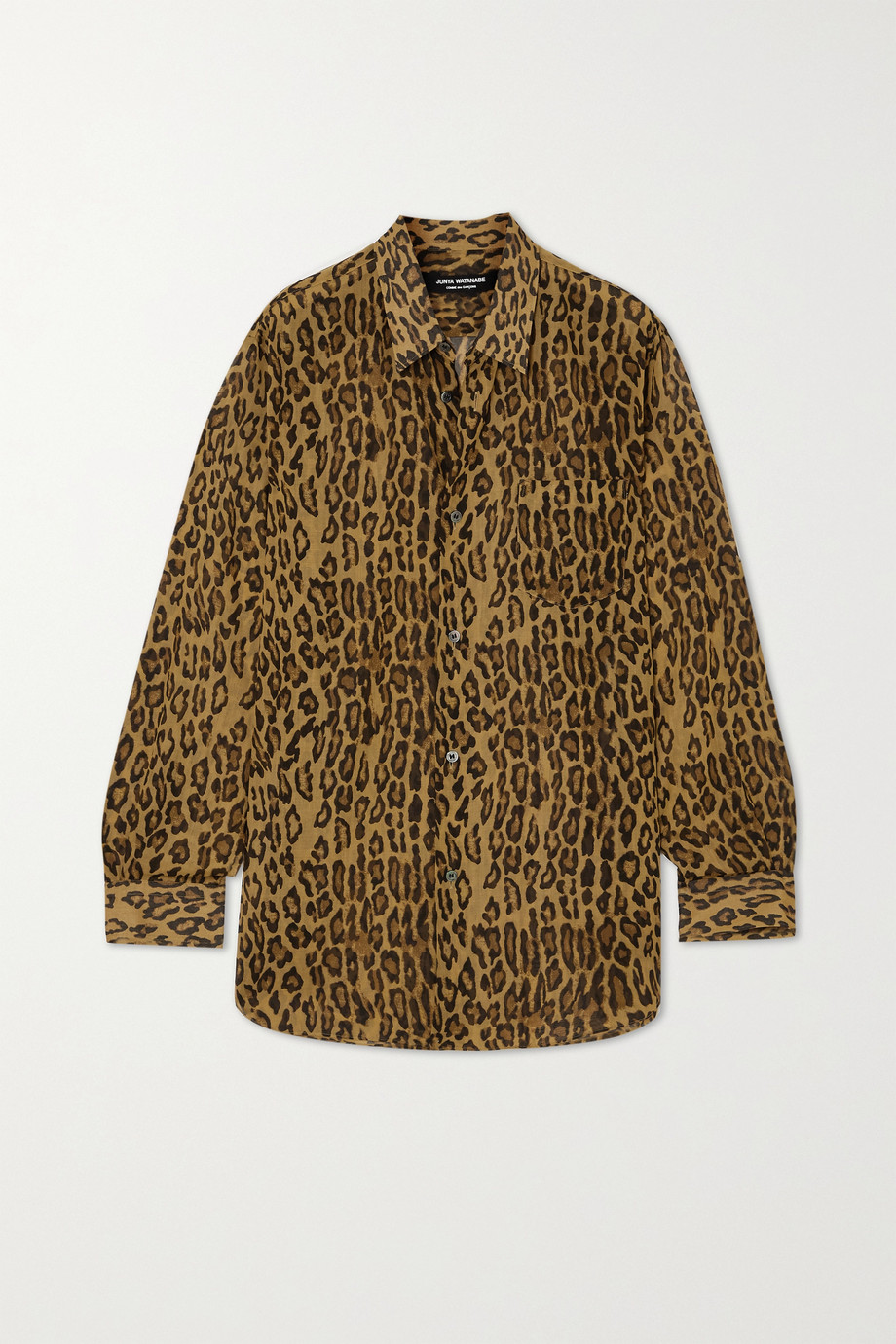 Junya Watanabe Leopard-print voile shirt
