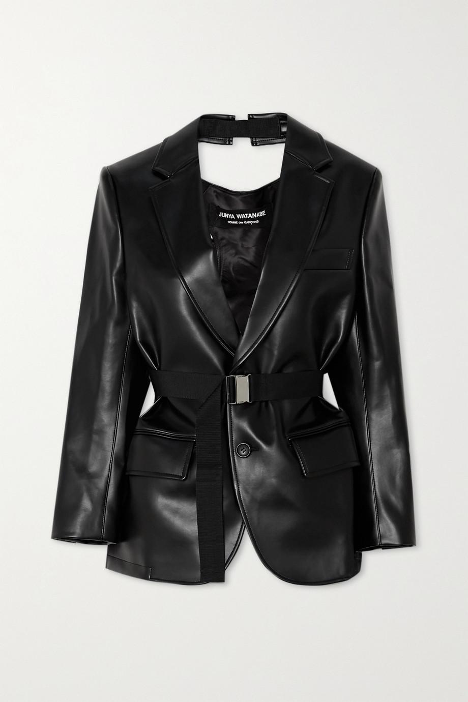 Junya Watanabe Cutout faux leather blazer