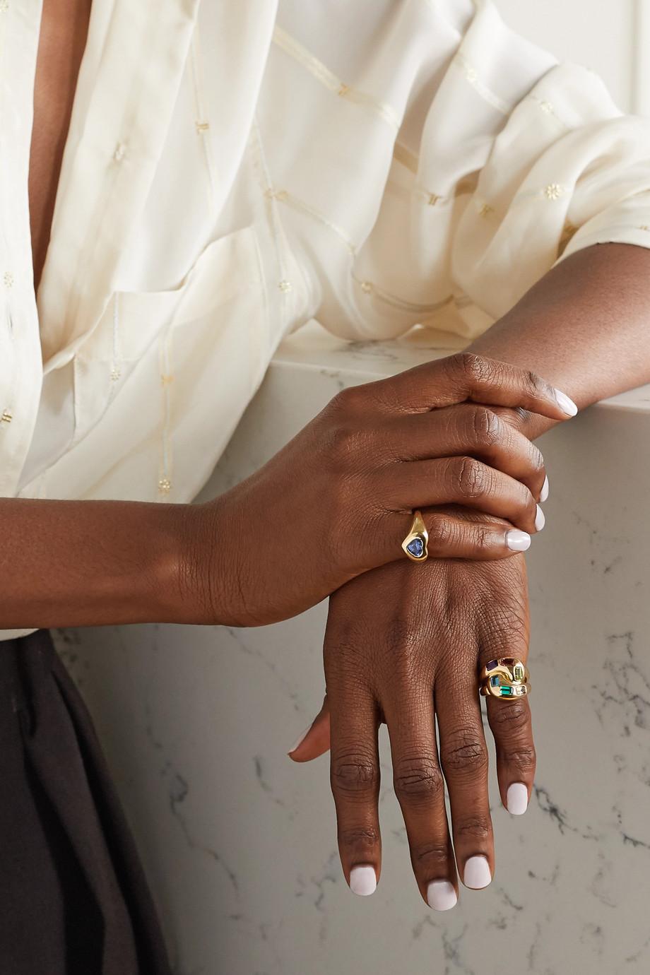 Brent Neale Knot 18-karat gold multi-stone ring