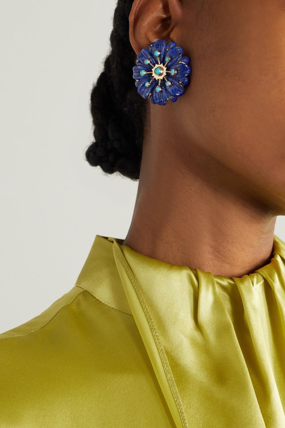 Brent Neale Sputnik 18-karat gold multi-stone earrings