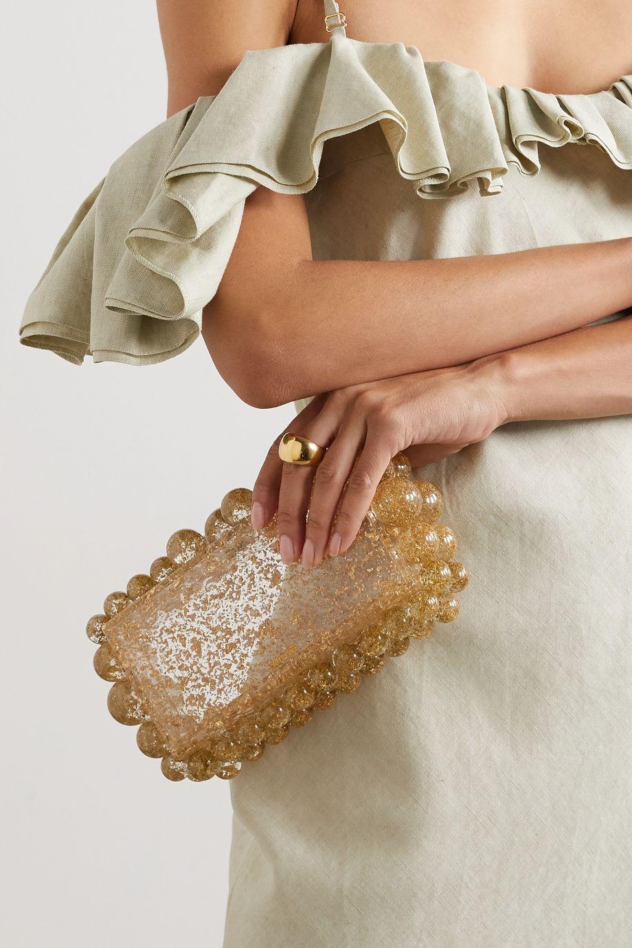 Cult Gaia Pochette en acrylique à perles Eos