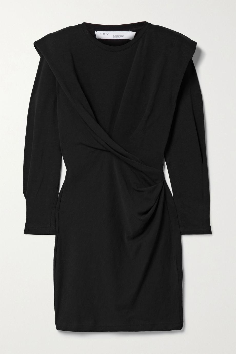 IRO Beckett draped cotton-jersey mini dress