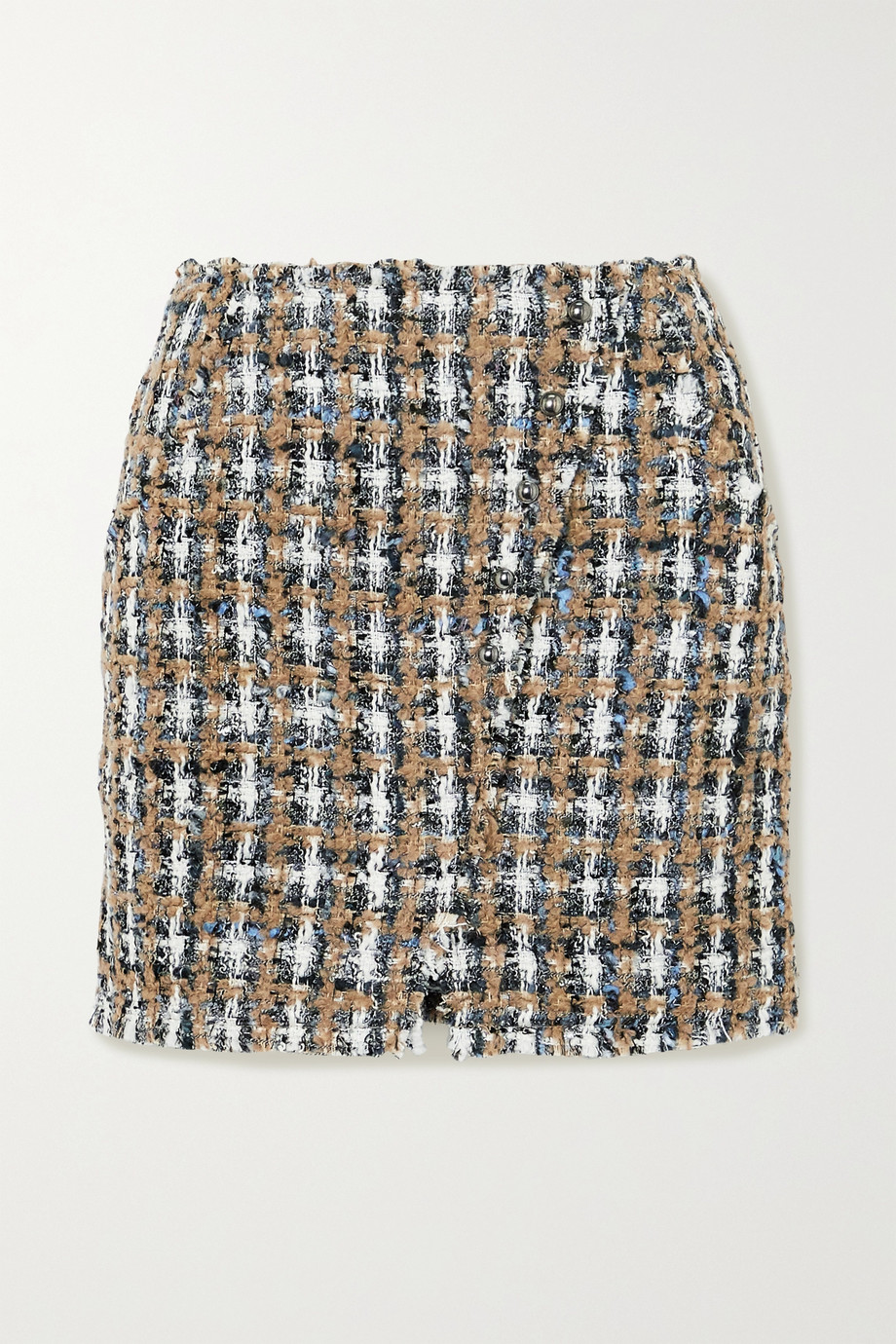 IRO Hunch checked bouclé-tweed mini skirt