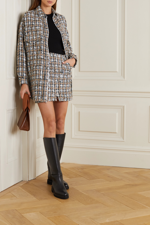 IRO Hunch checked bouclé-tweed mini skirt