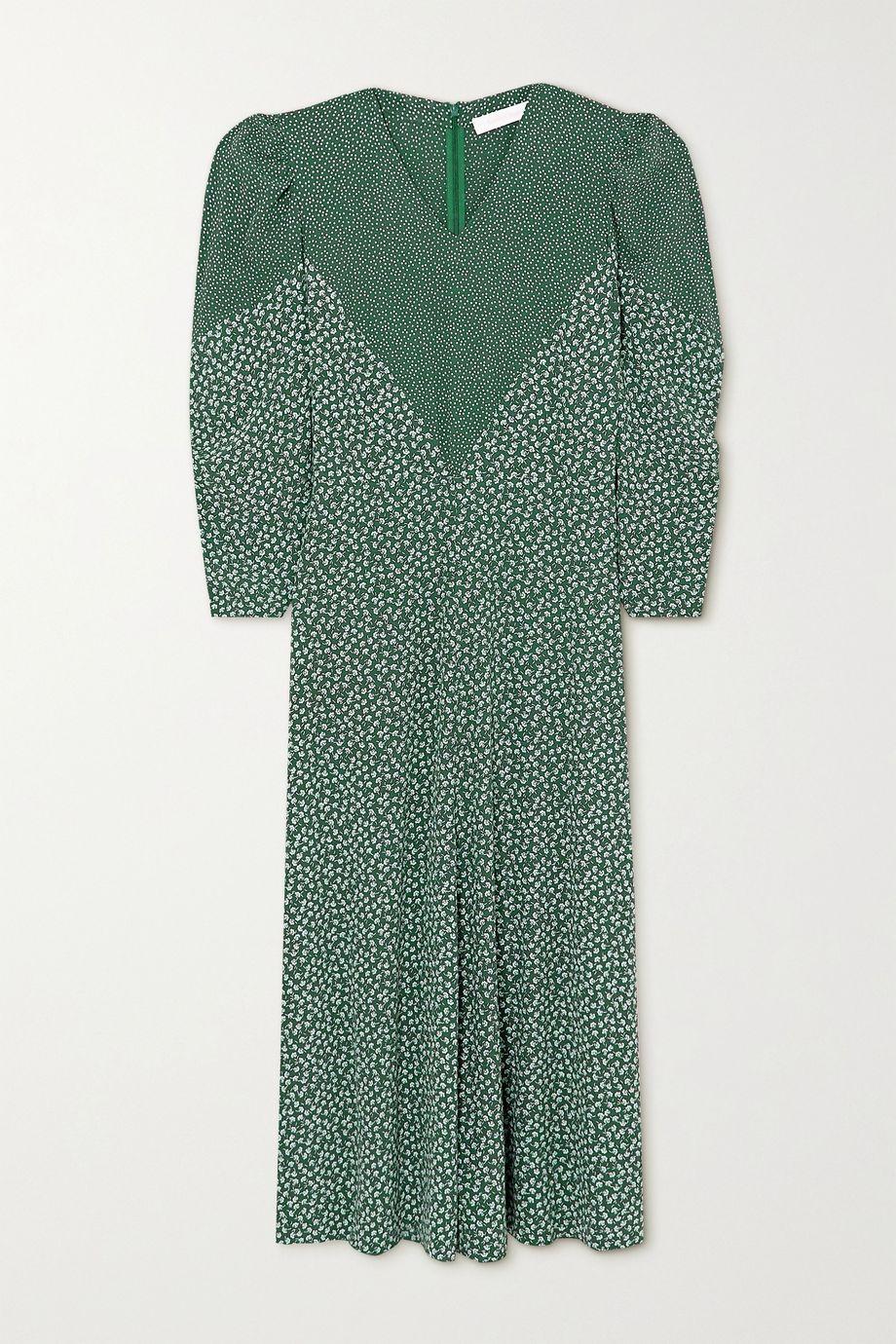 See By Chloé Paneled printed crepe maxi dress