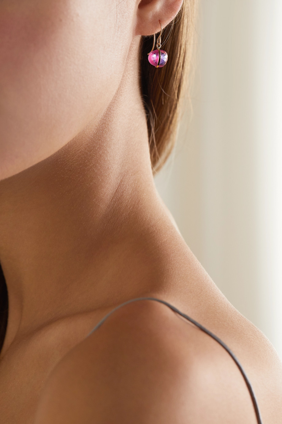 Melissa Joy Manning 14-karat gold sapphire earrings
